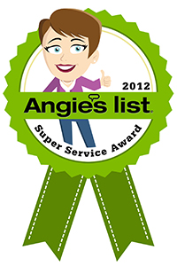 Angie's List Super Service Award Winner 2012
